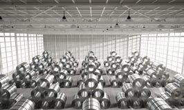 Rolo da chapa de aço na fábrica Imagens de Stock