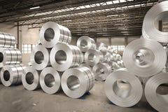 Rolo da chapa de aço na fábrica Imagens de Stock Royalty Free