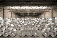 Rolo da chapa de aço na fábrica Imagem de Stock Royalty Free