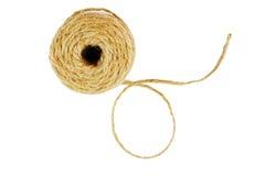 Rolo da corda de linho da corda isolada Imagens de Stock