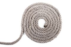 Rolo da corda náutica fotografia de stock