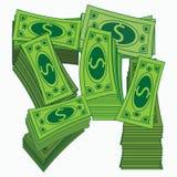 Rolo da ilustração do vetor do dinheiro Dólares de papel Projeto O monetário isolado no branco Note o fundo Imagens de Stock