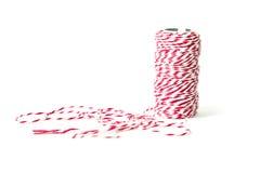 Rolo da linha vermelha e branca Imagem de Stock Royalty Free
