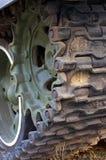 Rolo da parte traseira da lagarta do tanque do russo Imagem de Stock
