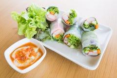 Rolo da salada Imagem de Stock