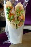 Rolo da salada e do presunto Fotos de Stock