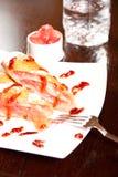 Rolo da sobremesa da baga Fotos de Stock Royalty Free
