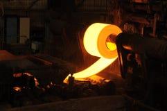 Rolo de aço quente fotografia de stock