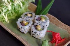 Rolo de atum japonês do alimento Fotografia de Stock Royalty Free