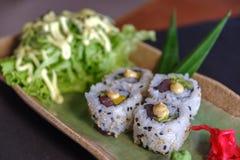 Rolo de atum japonês do alimento Imagem de Stock Royalty Free
