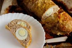 Rolo de carne com ovos Imagens de Stock Royalty Free