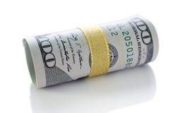 Rolo de cem dólares Imagem de Stock Royalty Free