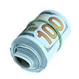 Rolo de cem dólares novos Foto de Stock