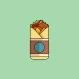 Rolo de Chickenf no estilo minimalista Ilustração do vetor, de liso Foto de Stock