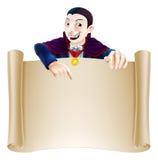 Rolo de Dia das Bruxas Dracula ilustração stock