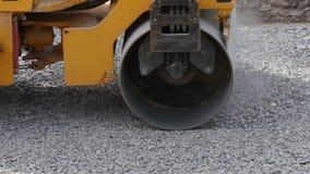 Rolo de estrada na reparação da estrada filme
