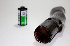 Rolo de filme análogo com filme novo fotografia de stock royalty free