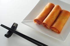 Rolo de mola fritado Fotos de Stock