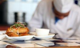 Rolo de mola no restaurante Foto de Stock Royalty Free