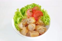 Rolo de mola tailandês e salada fresca Imagem de Stock Royalty Free