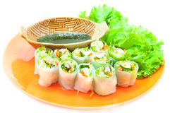 Rolo de mola vietnamiano delicioso Fotografia de Stock