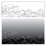Rolo de papel Imagem de Stock