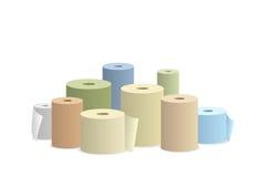 Rolo de papel na ilustração branca do vetor do fundo Fotografia de Stock