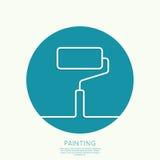 Rolo de pintura Imagens de Stock
