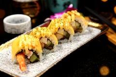 Rolo de sushi Fotografia de Stock