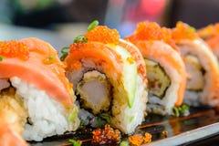 Rolo de sushi Fotografia de Stock Royalty Free