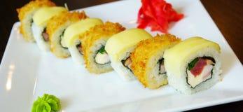 Rolo de sushi da enguia Imagem de Stock