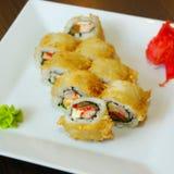 Rolo de sushi da enguia Imagens de Stock