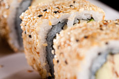 Rolo de sushi de Califórnia Fotografia de Stock Royalty Free