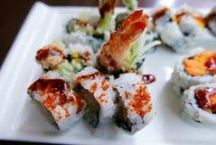 Rolo de sushi do Tempura do camarão Foto de Stock Royalty Free