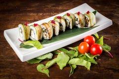 Rolo de sushi do vegetariano Imagem de Stock Royalty Free