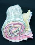 Rolo de toalhas de chá. Imagem de Stock