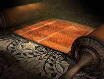 Rolo de Torah Foto de Stock