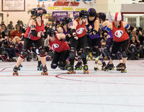 Rolo Derby Girls Foto de Stock Royalty Free