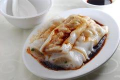 Rolo do arroz da carne Fotografia de Stock
