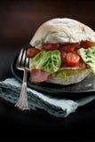 Rolo do bacon, da alface e do tomate Foto de Stock Royalty Free