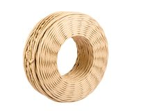Rolo do cabo da guita do papel isolado no fundo branco Fotografia de Stock Royalty Free