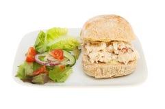 Rolo do caranguejo com salada Fotos de Stock Royalty Free