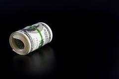 Rolo do dinheiro com espaço em branco Fotografia de Stock