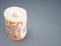 Rolo do dinheiro do Euro Fotos de Stock Royalty Free