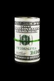 Rolo do dinheiro (isolado no preto) Imagens de Stock Royalty Free