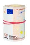 Rolo do euro Foto de Stock
