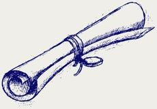 Rolo do pergaminho Imagem de Stock