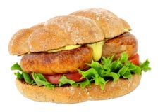 Rolo do sanduíche da salsicha foto de stock royalty free