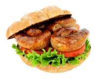 Rolo do sanduíche da salsicha imagens de stock