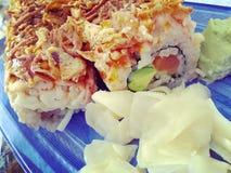 Rolo do sushi Imagens de Stock Royalty Free